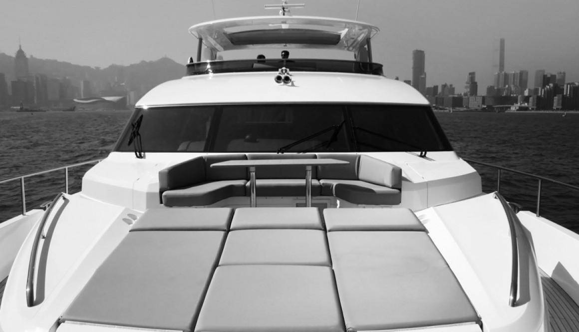 Sea trials of Princess yachts in Hong Kong