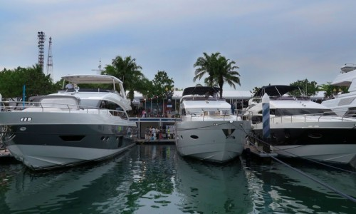 Working with Princess brand at Singapore Yacht Show 2014