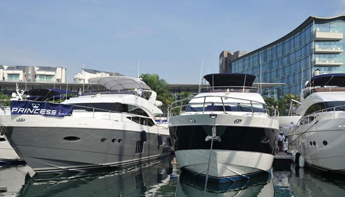 Working at Singapore Yacht Show 2013
